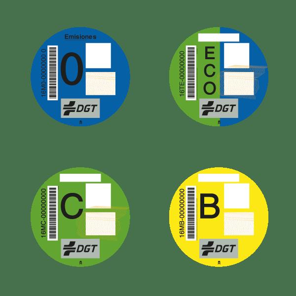 etiquetas ambientales coches